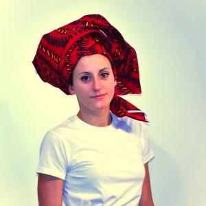 turbante AFro rojo